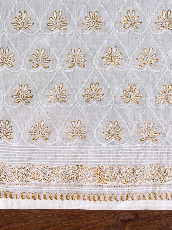 White And Gold Kitchen Curtains Romantic Saffron Marigold
