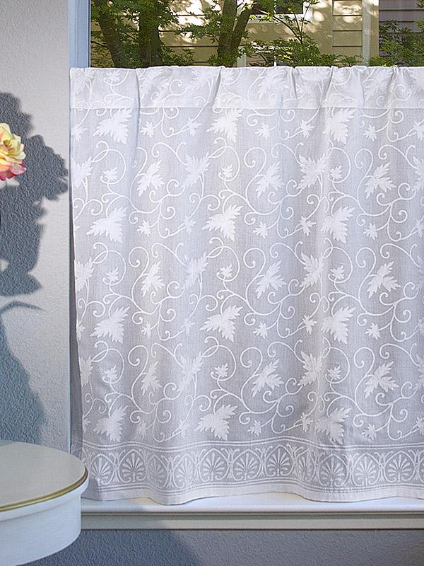 White Kitchen Curtain Floral Country Saffron Marigold