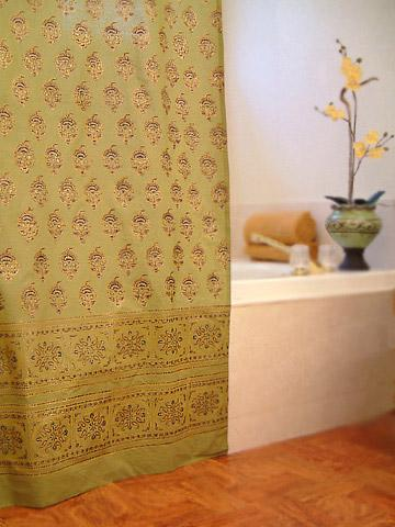 Indian Shower Curtains Batik Shower Curtain Fabric Shower Curtains Cotton Bath Shower Curtains