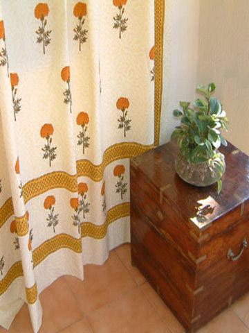India Shower Curtains Yellow Shower Curtains Floral