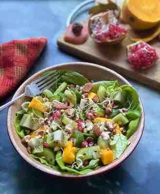 Kiwi Salad - A fresh and delicious vegan and gluten free salad you must try