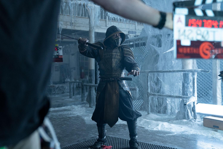 BTS Mortal Kombat - Hiroyuki-Sanada-as-Scorpian-Photo-by-Mark-Rogers,-Warner-Bros