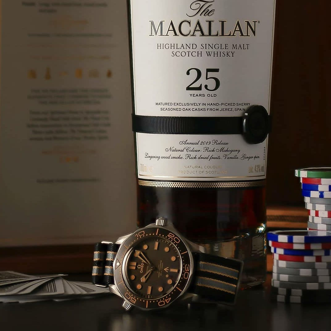 007: Omega Seamaster y Macallan