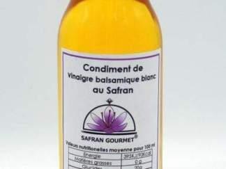 Condiment de vinaigre balsamique blanc au safran