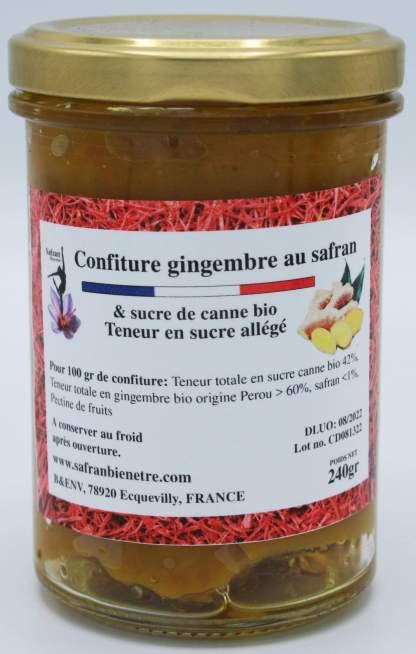 Confiture allégée de gingembre au safran
