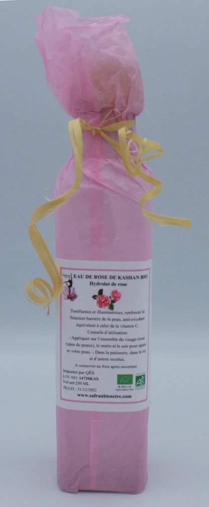 Eau de rose de Kashan bio (Hydrolat de rose) 250 ml