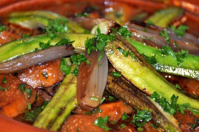 Tajine de Courgettes, Fenouils & Patates douces