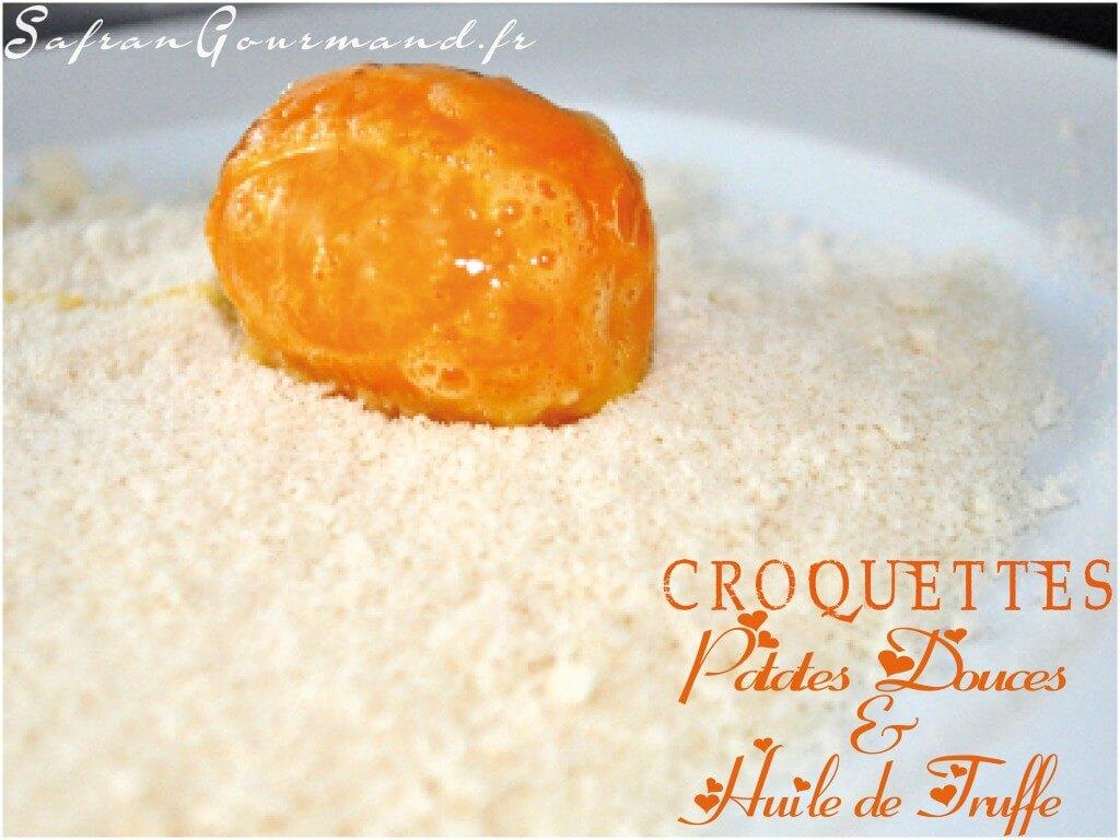 Croquettes Patates Douces & Huile de Truffe