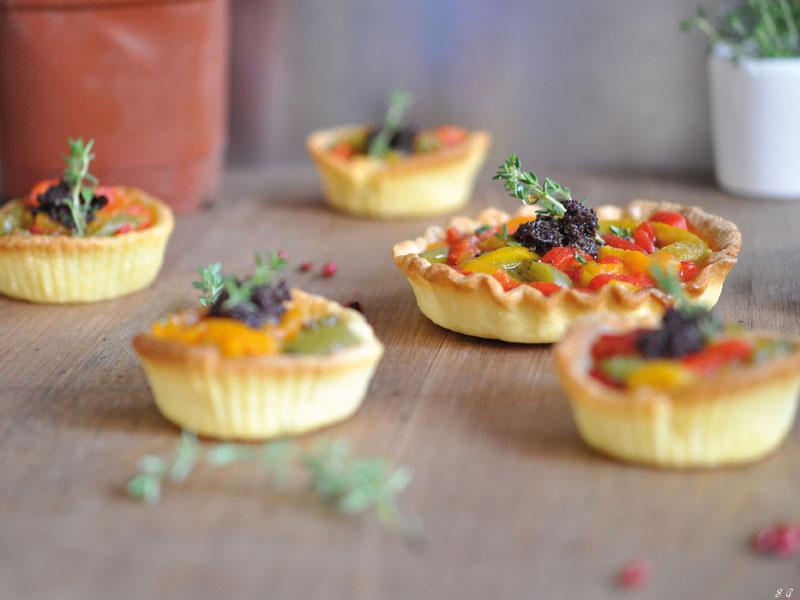 Tartelettes aux Poivrons & Tapenade