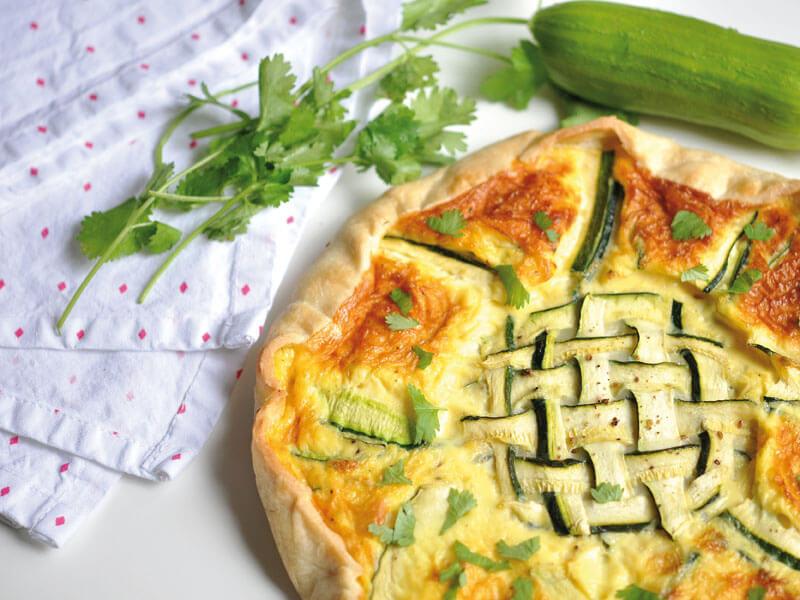 Tarte courgette comt - Recette tarte salee originale ...
