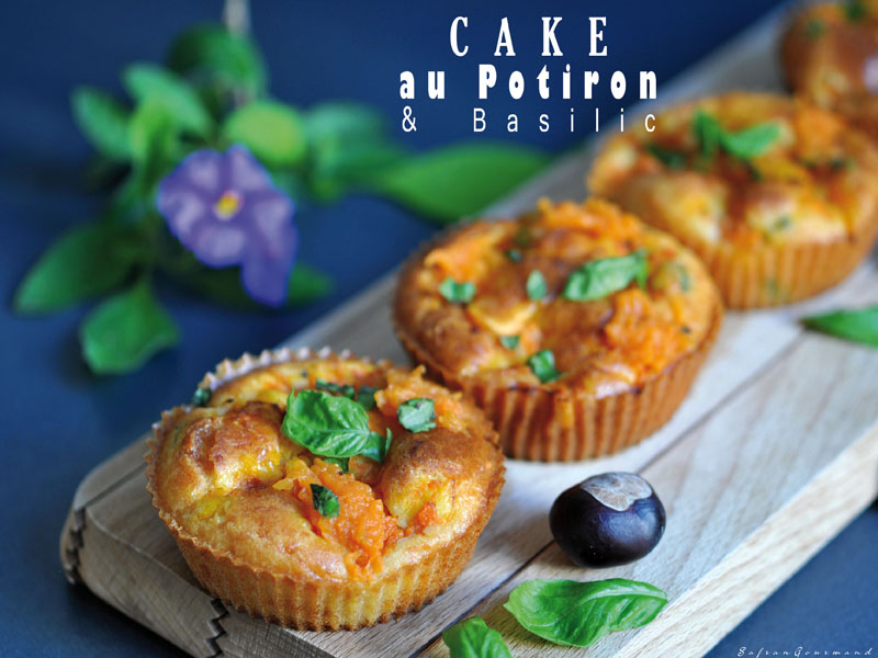 Cake au Potiron & Basilic