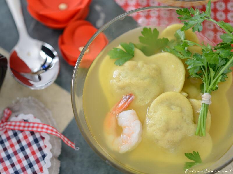 Raviolis de Crevettes et leur Infusion Citronnelle Gingembre - St Valentin