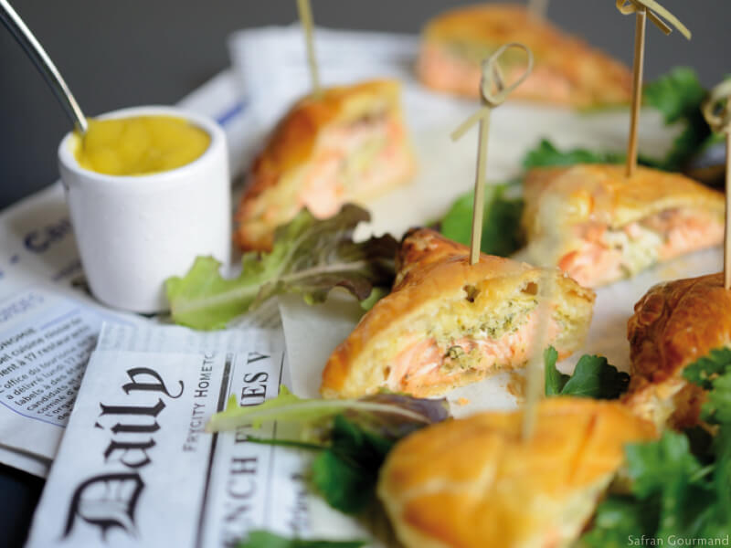 Saumon Farci en Croûte & Crème à la Mangue