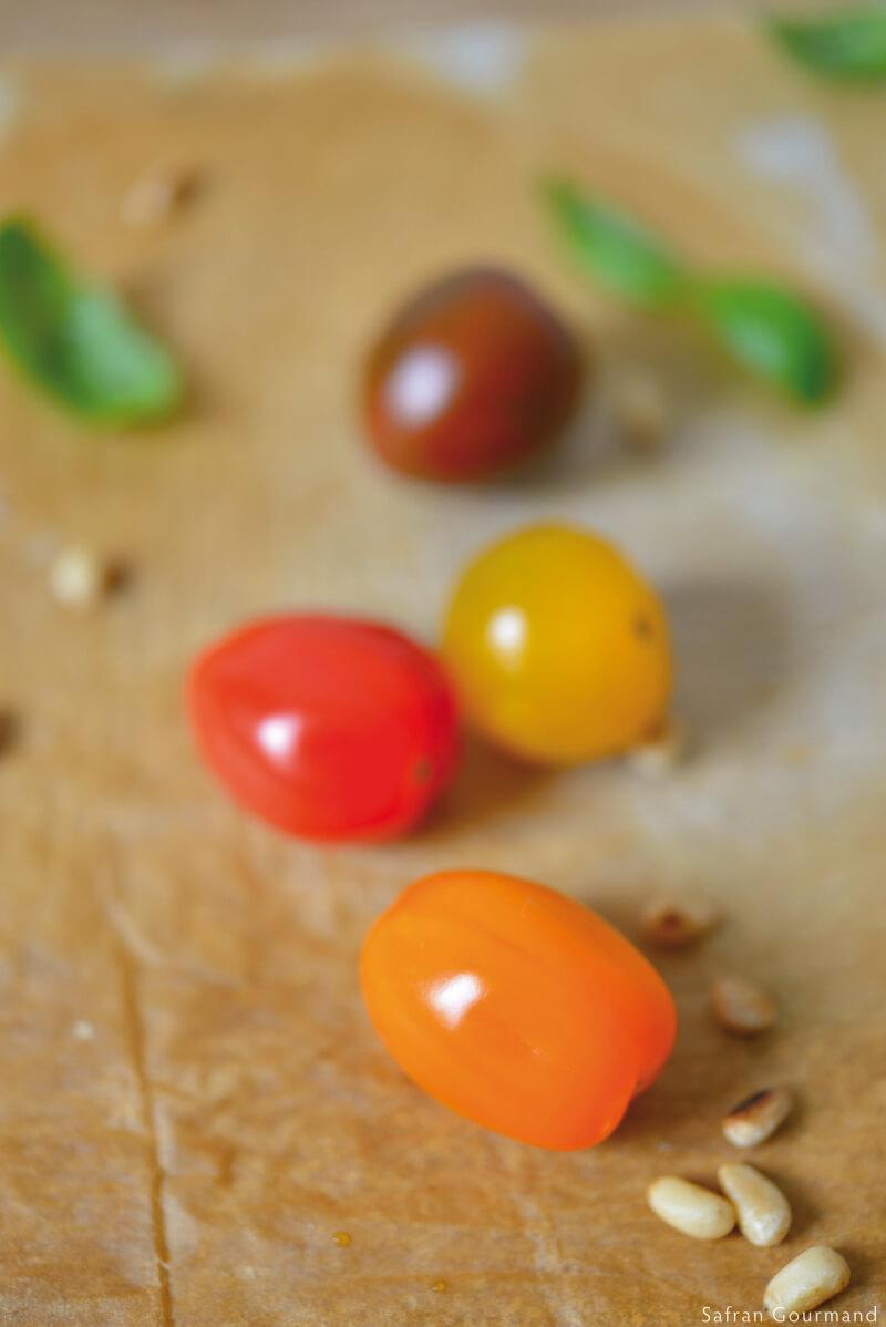Mini Pizzas {tomates, brousse & huile d'argan}