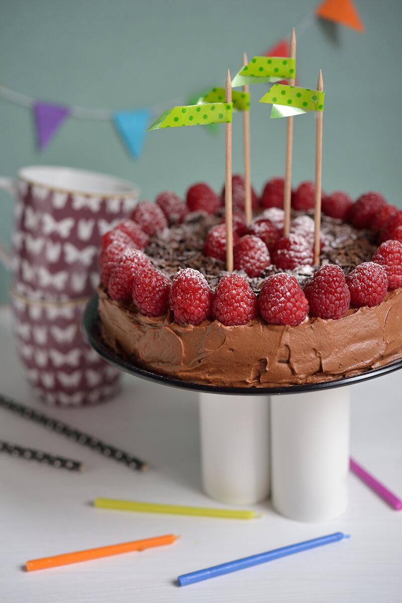 Gâteau au Chocolat, Marrons & Framboises
