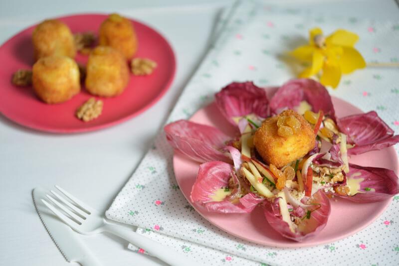 Salade d'Endives et Croquettes au Fromage de Brebis