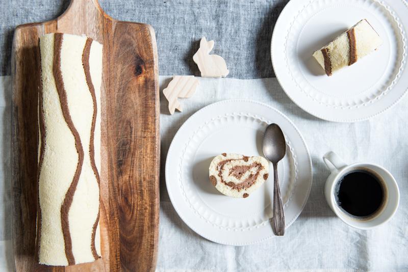 Gâteau Roulé Zébré au Chocolat