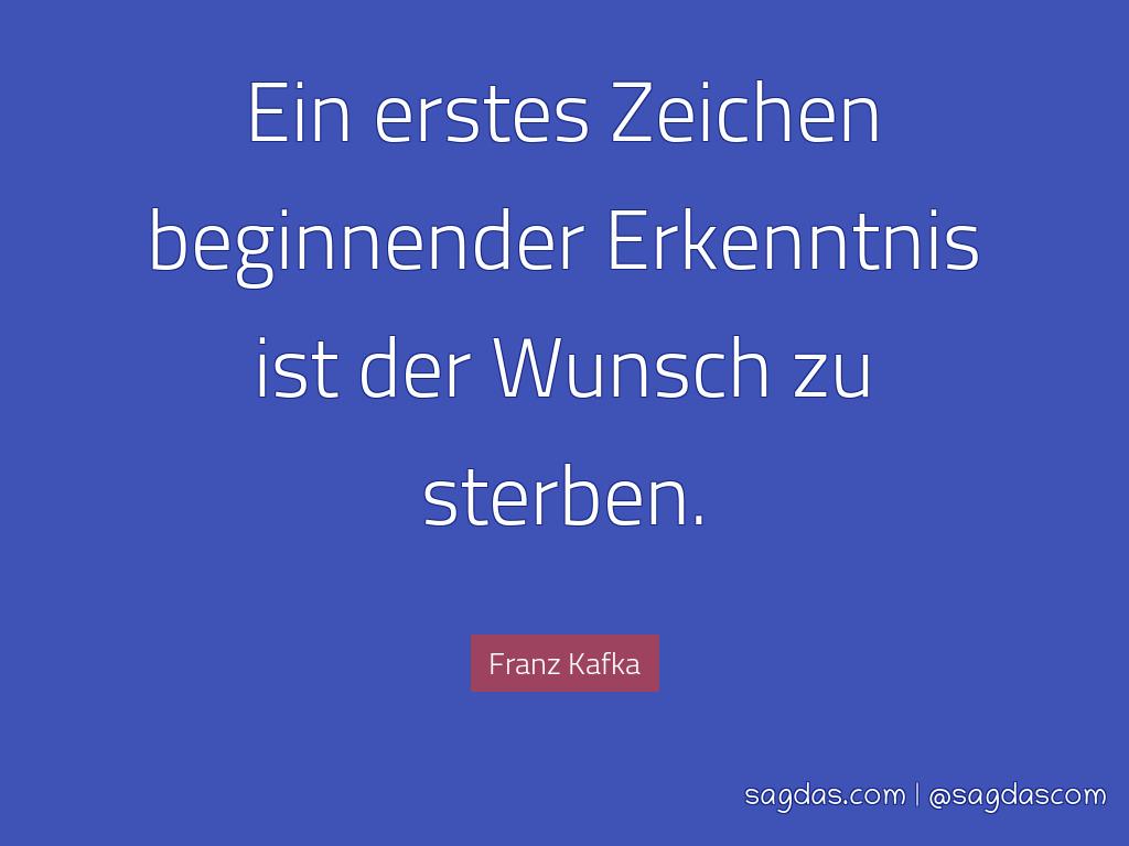 Franz Kafka Zitat Ein Erstes Zeichen Beginnender