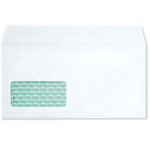 sage envelope with address window code 0646