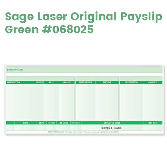 Sage Laser Payslips (Original) - Green
