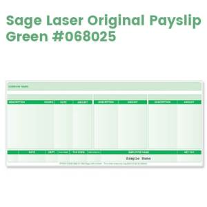 Sage Laser Payslips (Original) - Green