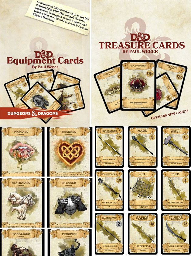 picture about Printable Monster Cards 5e called DD Playing cards via Paul Weber! Sage Tips DD