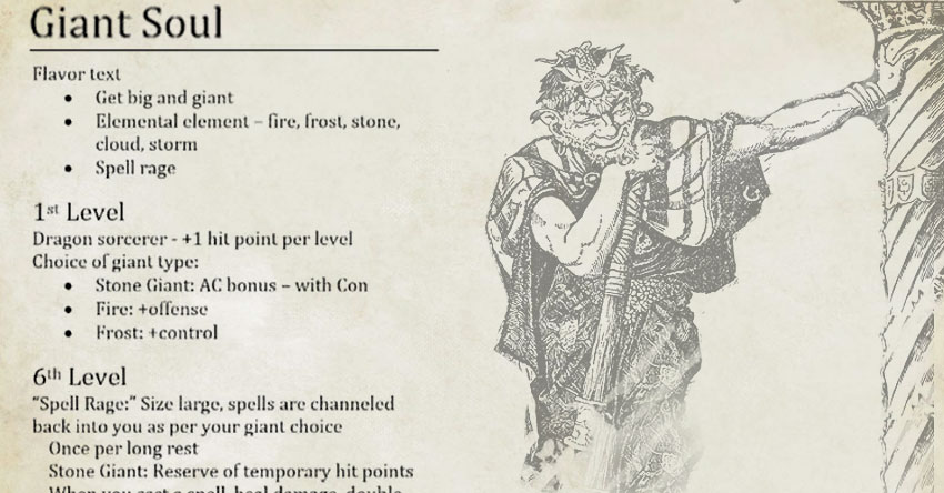 Giant Soul New Subclass For The Sorcerer Pt2 The Mike Mearls Happy Fun Hour Sage Advice D D Enlarge/reduce shenanigans (5e)5th edition (self.dnd). giant soul new subclass for the