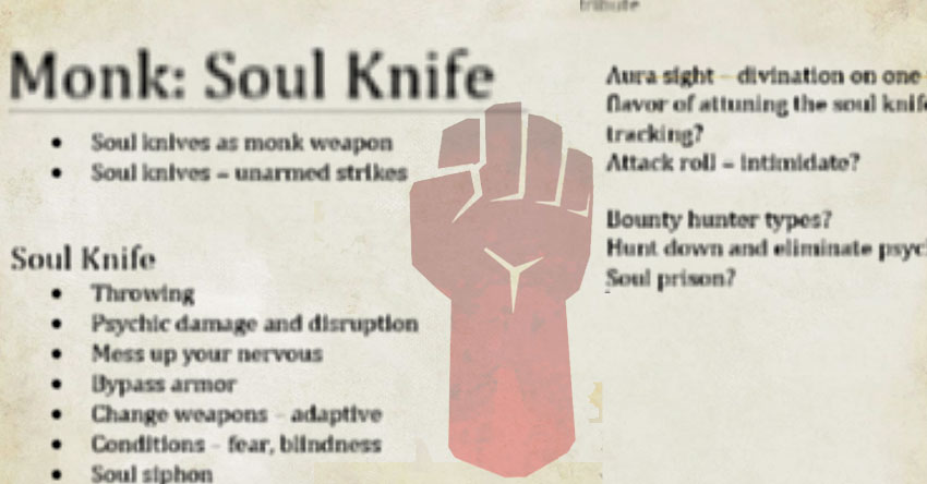 The Monk: Soul Knife subclass – The Mike Mearls Happy Fun