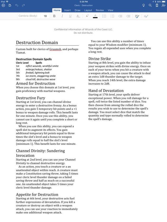 UA Destruction and Darkness domains for clerics! | Sage