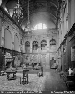 Great Hall, Craig House, photographed in 1895