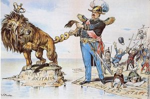 President Cleveland twist the tail of the British Lion