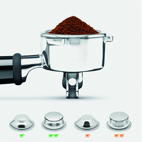 the Barista Express™ Espresso in Brushed Stainless Steel micro-foam milk texturing