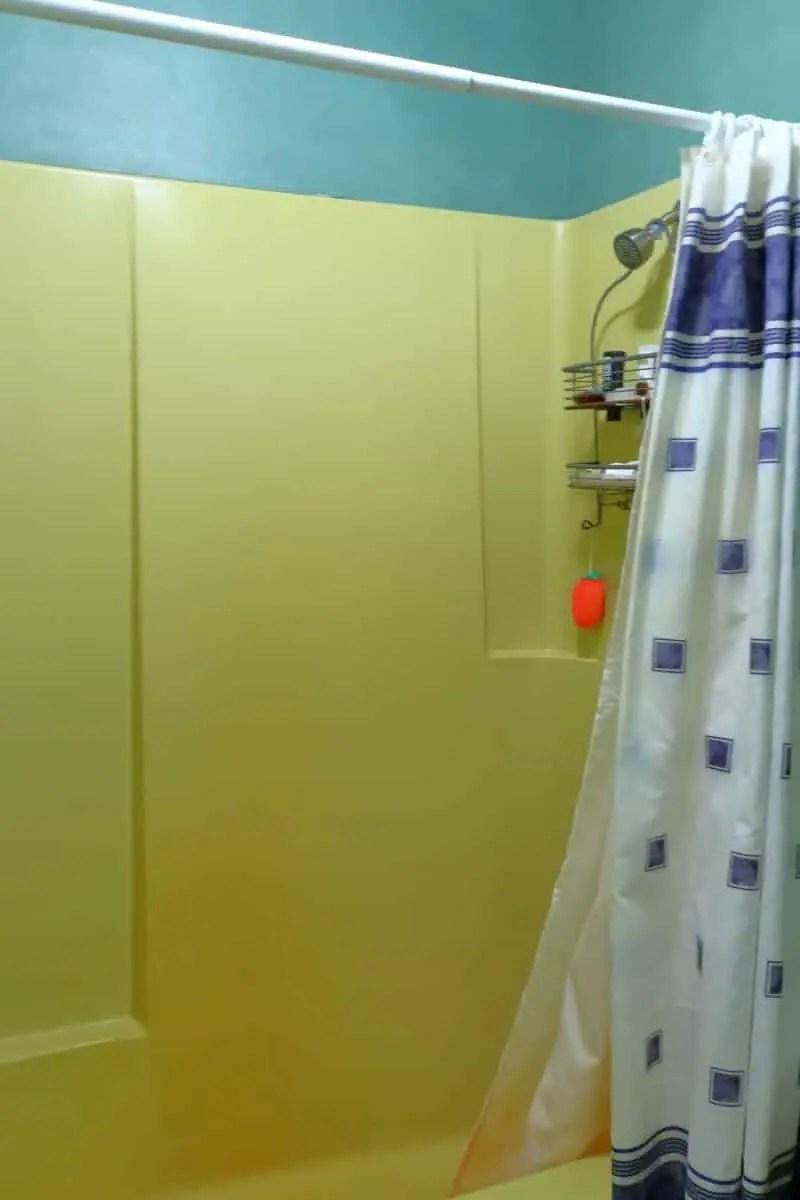 Bathroom remodel - yellow fiberglass tub/shower