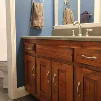 Dated 1970's Bathroom Makeover – Beautiful Bathroom Remodeling Reveal