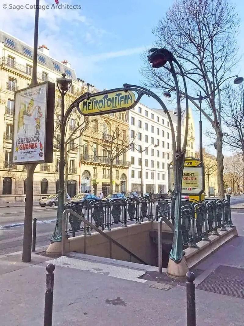Paris metro subway entrance