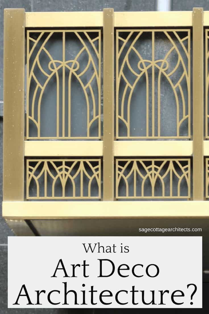 Collage of gold Art Deco style canopy panel