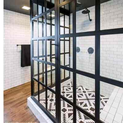 Design Inspiration: 20 Black Framed Glass Shower Enclosures