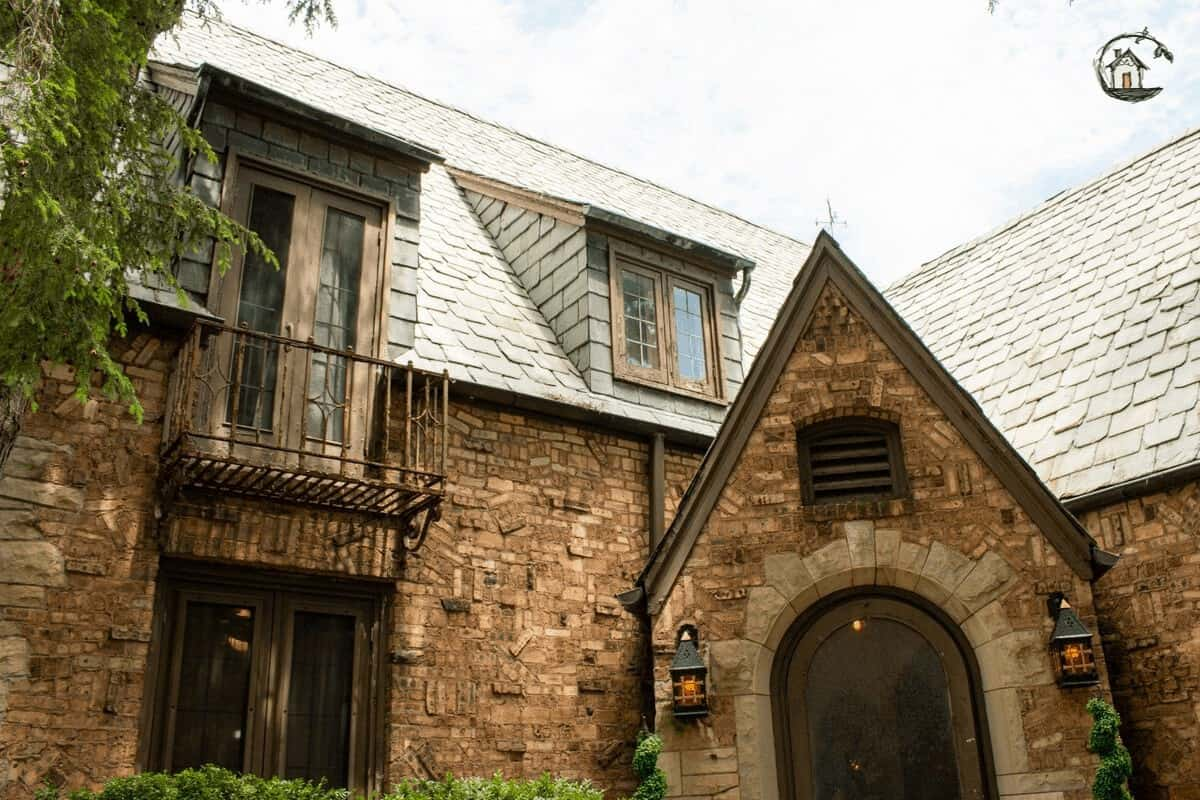 Photo of Gothic home on old house tour.