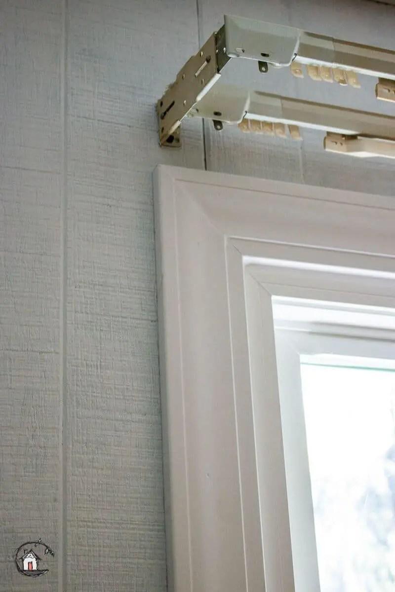 Photo of vinyl replacement window interior trim.