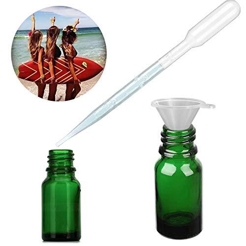 Ampolles per Olis Essencials amb comptagotes dissenyades per protegir el contingut dels raigs UV mai te fuites de líquid
