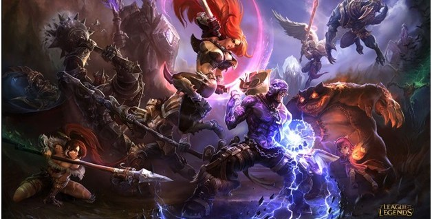 Playing League of Legends Champions