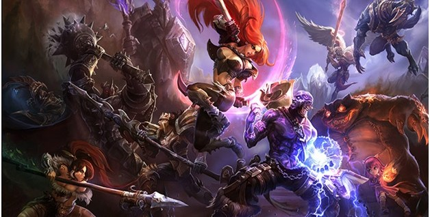 playing league-of-legends on gaming laptop