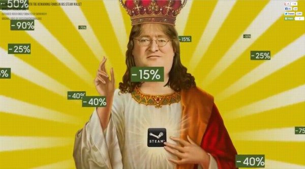 Steam God Gabe Newell in all his glory