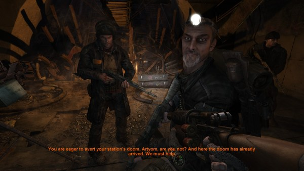 Metro 2033 playing with subtitles.