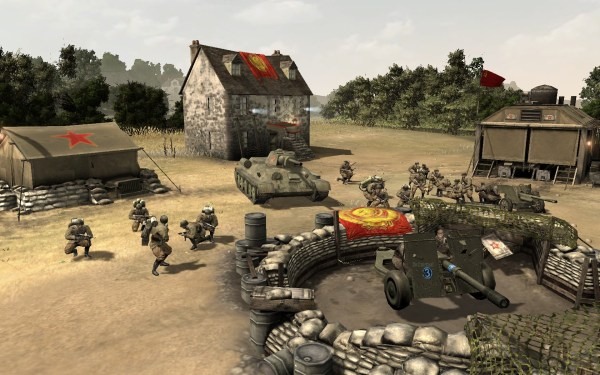 Screenshot of Company of Heroes Eastern Front.