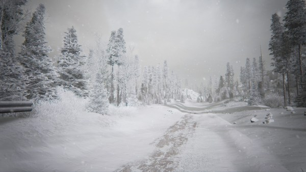 Kholat screenshot of snowy forest