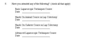 Lap Colon Course Eval Form 5 2005