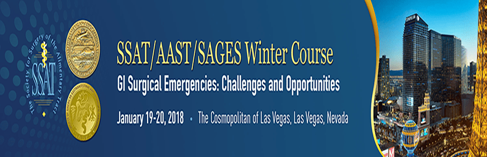 Join SAGES / AAST / SSAT for the Winter Course on GI Surgical Emergencies: Challenges and Opportunities