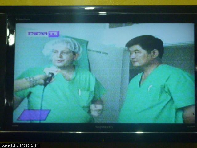TV interview laparoscopic training Mongolia