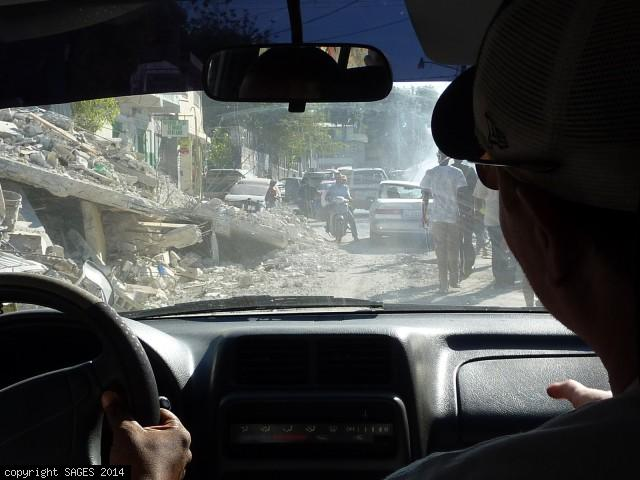 Driving into Port-au-Prince January 2010